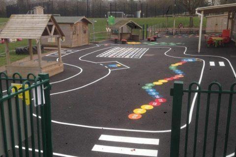 Hadleigh IP7 <b>School Play Area</b> Surfacing - Nationwide Coverage